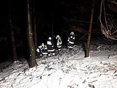 2018-02-16 (102) Technical exercise of Freiwillige Feuerwehr Weißenburg with people search in the Wiesrotte, Frankenfels.jpg